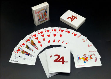 Custom Printing Barcode 4 Color Playing Cards , Linen Finishing High End Playing Cards